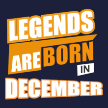 Legends are Born in December Legends-are-born-in-December..- T-Shirt