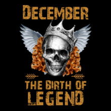 Legends are Born in December Legends-are-born-in-December. T-Shirt