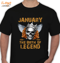 Legends are Born in January Legends-are-born-in-January. T-Shirt
