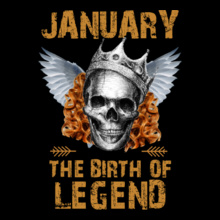 c6f3456e73f Legends-are-born-in-january T-Shirts