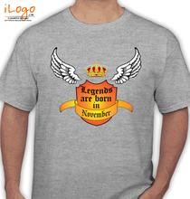 Legends are Born in November november T-Shirt