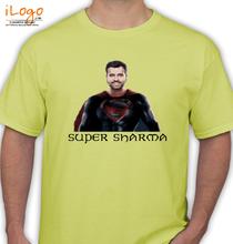 Rohit Sharma Super-sharma-yellow T-Shirt