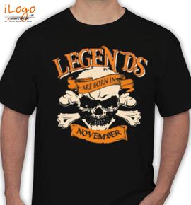 LEGENDS-BORN-IN-NOVEMBER... - T-Shirt
