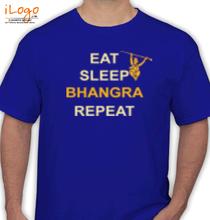 Punjab eat-sleep-bangra-repeat T-Shirt