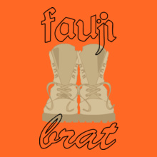 fauji-brat-with-shoes T-Shirt