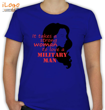 Army Wife strong-woman T-Shirt