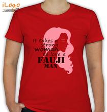 Army Wife fauji-man T-Shirt