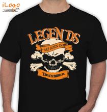 Legends are Born in December LEGENDS-BORNIN-December T-Shirt