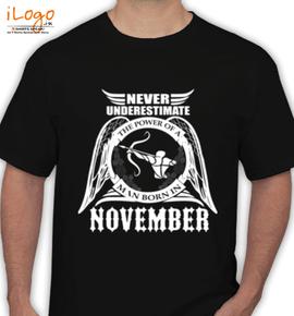 LEGENDS-BORN-IN-November%A%E - T-Shirt