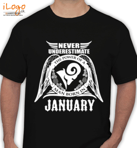 LEGENDS BORN IN January%A/ - T-Shirt