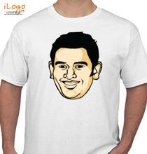 MS Dhoni Dhoni-face T-Shirt