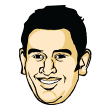 MS Dhoni Dhoni-face T-Shirt