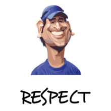 MS Dhoni RESPECT-MSD T-Shirt