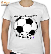 Couple love-me-or-football T-Shirt