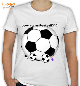 love me or football - T-Shirt [F]