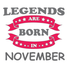 Legends are Born in November LEGENDS-BORN-IN-November- T-Shirt
