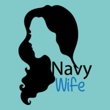 Navy Wife navy-wife-with-shilouette T-Shirt