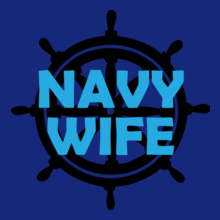 Navy Wife navy-wheel T-Shirt
