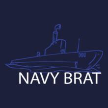 navy-brat-boat-in-white T-Shirt