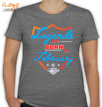 Legends are Born in February february T-Shirt