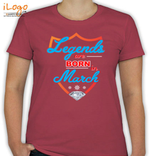 Legends are Born in March march T-Shirt