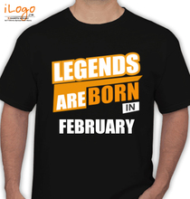 Legends are Born in February LEGENDS-BORN-IN-February-%C T-Shirt