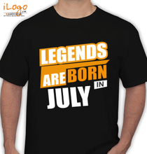 Legends are Born in July LEGENDS-BORN-IN-July. T-Shirt