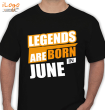 Legends are Born in June LEGENDS-BORN-IN-JUNE. T-Shirt