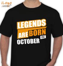 Legends are Born in October LEGENDS-BORN-IN-October.. T-Shirt