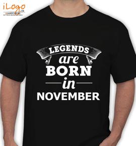 LEGENDS-BORN-IN-NOVEMBER-.-.% - T-Shirt