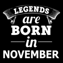 Legends are Born in November LEGENDS-BORN-IN-NOVEMBER-.-.% T-Shirt