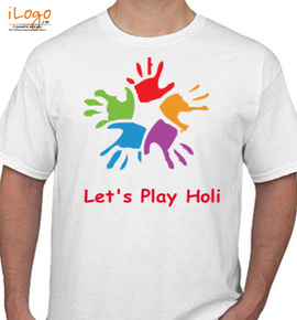 let%s play holi - T-Shirt