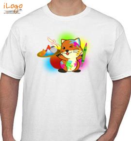 fox holi - T-Shirt