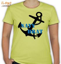Naval Brat navy-brat-anchor. T-Shirt