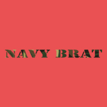 navy-brat-in-army-texture T-Shirt