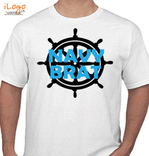 Naval Brat navy-brat-wheel T-Shirt