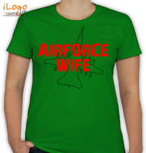 Air Force Wife airforce-wife-plain-outline T-Shirt