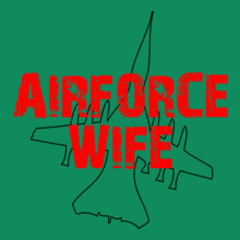 airforce-wife-plain-outline T-Shirt