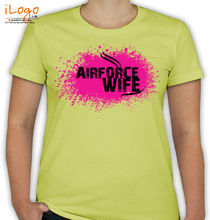 Air Force Wife air-force-wife-with-pink-design. T-Shirt