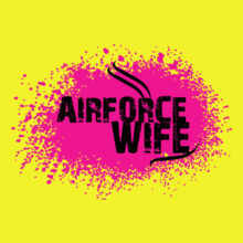 air-force-wife-with-pink-design. T-Shirt