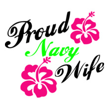 Navy Wife navy-wife-with-flower T-Shirt