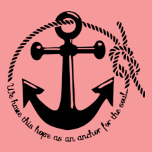 Navy Wife anchor-rope T-Shirt