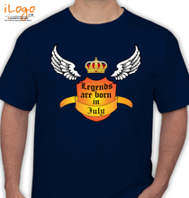 Legends are Born in July july T-Shirt