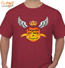 Legends are Born in August august T-Shirt