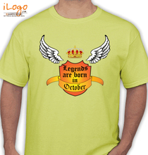Legends are Born in October October T-Shirt