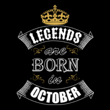 Legends-are-born-in-october T-Shirt