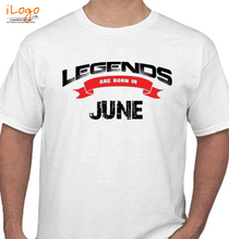 Legends are Born in June Legends-are-born-in-june%B T-Shirt