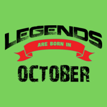 Legends-are-born-in-october%B T-Shirt