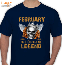 Legends are Born in February LEGENDS-BORN-IN-FEBRUARY.-. T-Shirt
