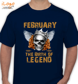 LEGENDS BORN IN FEBRUARY. . - T-Shirt